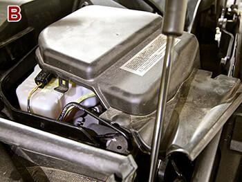 Removing BMW 335i Brake Reservoir
