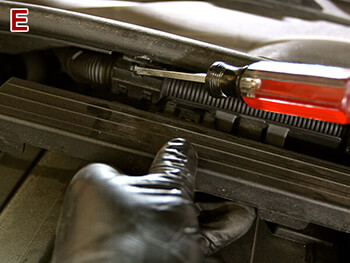 Remove BMW 335i Retaining Clips