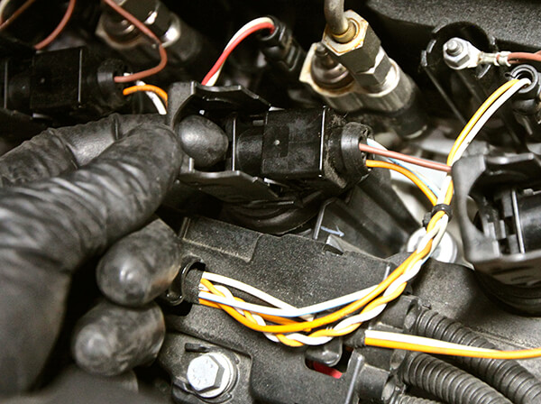 Unplugging an Ignition Coil
