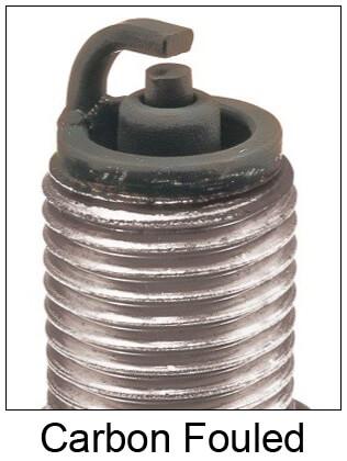 Carbon Fouled Spark Plug