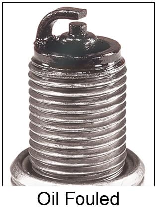 Oil Fouled Spark Plug