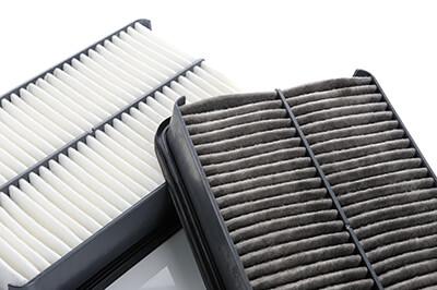 Clean Versus Dirty Air Filter