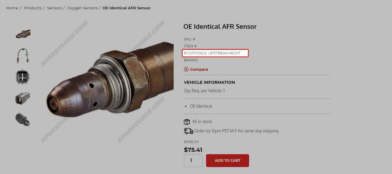 Sensor Position Notes