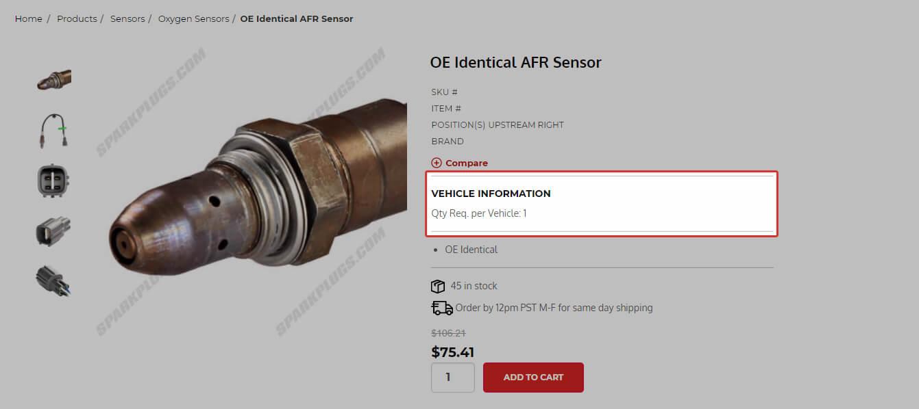 Sensor Vehicle Information Notes